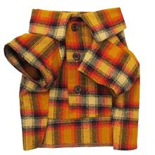 The Traveler Dog Flannel Shirt by Dog Threads