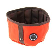 Trek Round Portable Bowl by Puppia Life - Orange