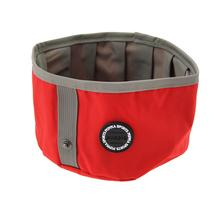 Trek Round Portable Bowl by Puppia Life - Red