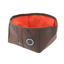 Trek Square Portable Bowl by Puppia Life - Brown