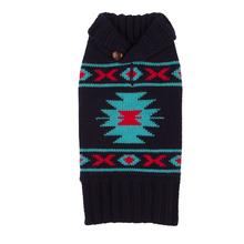 Tribal Dog Sweater from Fab Dog - Navy