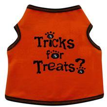 Tricks For Treats Dog Tank - Orange