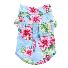 Tropical Island Dog Shirt by Dogo - Blue