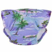 Tropical Island Purple Dog Diaper Cover