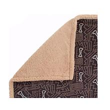 Ultra Paws My Blankie Bone Apart Pet Blanket - Black and Tan