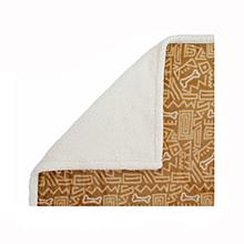 Ultra Paws My Blankie Bone Apart Pet Blanket - Tan and Cream