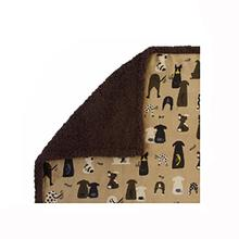 Ultra Paws My Blankie Waggers Pet Blanket - Tan and Chocolate