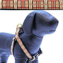 Up Country Tan Plaid Dog Harness