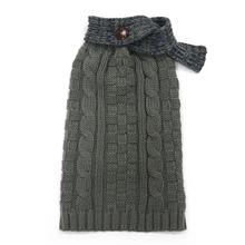 Urban Cable Scarf Dog Sweater by Dogo - Gray