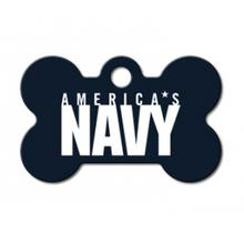 U.S. Navy Engravable Pet I.D. Tag - Small Bone