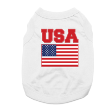 USA Dog Shirt - White