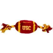 USC Trojans Plush Football Dog Toy