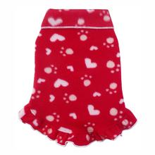 Valentines Paw Heart Dog Pullover - Red