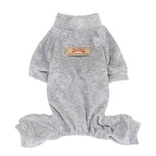 Velour Dog Pajamas by Parisian Pet - Gray