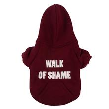 Walk of Shame Thermal Lined Dog Hoodie from Fab Dog - Burgundy