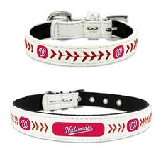 Washington Nationals Leather Dog Collar