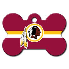 Washington Redskins Engravable Pet I.D. Tag - Bone