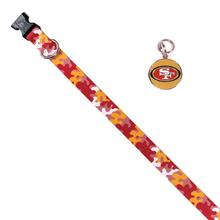 San Francisco 49ers Team Camo Dog Collar and Tag by Yellow Dog