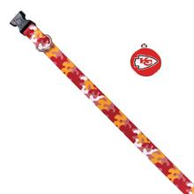 Kansas City Chiefs Team Camo Dog Collar and Tag by Yellow Dog