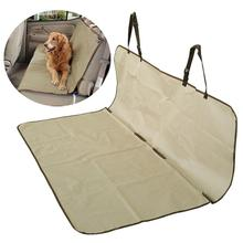 Waterproof Bench Dog Car Seat Cover - Beige