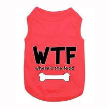 Where's the Food Dog Tank by Parisian Pet - Red