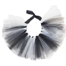 White/Black Tulle Dog Tutu by Pawpatu