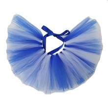 White/Royal Blue Tulle Dog Tutu by Pawpatu