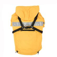 Wilderness Hooded Dog Raincoat by Puppia Life- Yellow