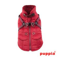 Wilkes Fleece Dog Vest by Puppia - Wine
