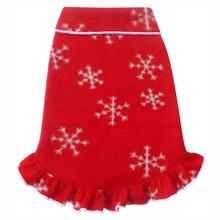 Winter Snowflakes Pullover Dog Dress - Red