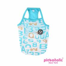 Witty Pug Dog Tank by Pinkaholic - Aqua
