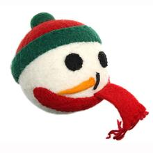 Wooly Wonkz Christmas Ball Dog Toy - Frosty