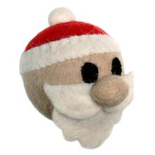 Wooly Wonkz Christmas Ball Dog Toy - Santa