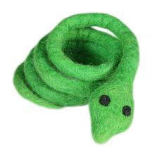 Wooly Wonks Safari Cat Toy - Green Snake