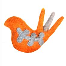 Wooly Wonks Woodland Cat Toy - Orange Bird