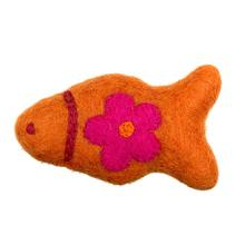 Wooly Wonks Woodland Cat Toy - Orange Fish