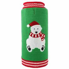 Worthy Dog Christmas Bear Dog Sweater - Green