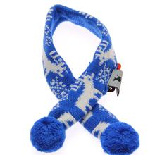 Worthy Dog Holiday Ski Dog Scarf - Reindeer Blue
