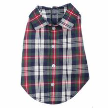 Worthy Dog Navy Plaid Dog Shirt