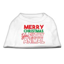 Ya Filthy Animal Dog Shirt - White