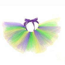 Yellow, Green, and Purple Tulle Dog Tutu by Pawpatu