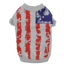 Zack & Zoey America's Pup Flag Print Dog T-Shirt