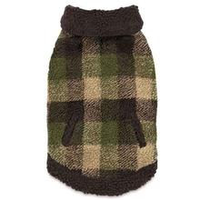 Zack and Zoey Berber Plaid Dog Vest - Green