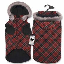Zack and Zoey Diamond Plaid Dog Coat - Red