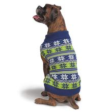 Zack and Zoey Elements Bright Snowflake Sweater - Blue