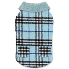 Zack and Zoey Elements Cuddle Plaid Dog Coat - Blue