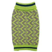 Zack and Zoey Elements Geometric Dog Sweater - Green
