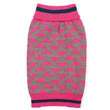 Zack and Zoey Elements Geometric Dog Sweater - Pink