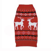 Zack and Zoey Elements Reindeer Dog Sweater - Red