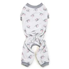 Zack and Zoey Pet Pajamas - Silver with Polka Dot Elephants